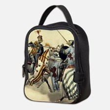 Knights Jousting Neoprene Lunch Bag