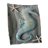 Seahorse pillows Burlap Pillows