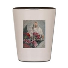 jesus Roses Shot Glass
