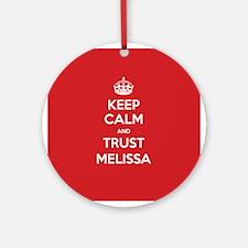 Trust Melissa Ornament (Round)