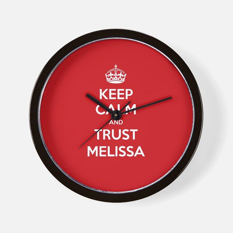 Trust Melissa Wall Clock