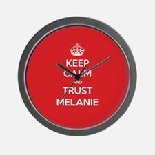 Trust Melanie Wall Clock