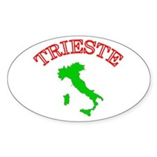 Trieste, Italy Oval Decal