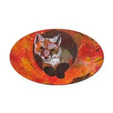The Cunning Little Vixen Oval Car Magnet