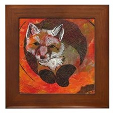 The Cunning Little Vixen Framed Tile