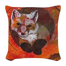 The Cunning Little Vixen Woven Throw Pillow