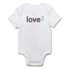 Twins Love Squared Infant Bodysuit