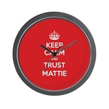 Trust Mattie Wall Clock