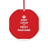 Maryann Round Ornaments