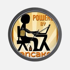 Powered by Pancakes Wall Clock