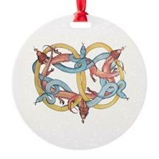 Dragons and Snakes Entwined Eternal Ornament