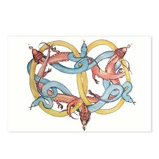 Dragons and Snakes Entwined Eternal Postcards (Pac