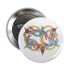"""Dragons and Snakes Entwined Eternal 2.25"""" Button"""