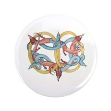 """Dragons and Snakes Entwined Eternal 3.5"""" Button"""