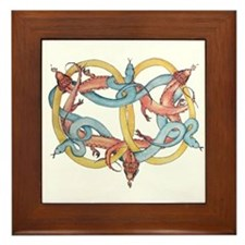 Dragons and Snakes Entwined Eternal Framed Tile