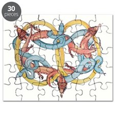 Dragons and Snakes Entwined Eternal Puzzle