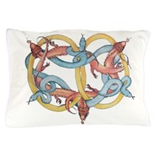 Dragons and Snakes Entwined Eternal Pillow Case