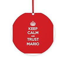Trust Mario Ornament (Round)