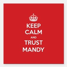 "Trust Mandy Square Car Magnet 3"" x 3"""