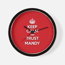 Trust Mandy Wall Clock