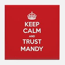 Trust Mandy Tile Coaster