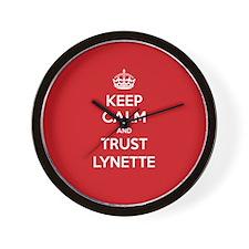 Trust Lynette Wall Clock