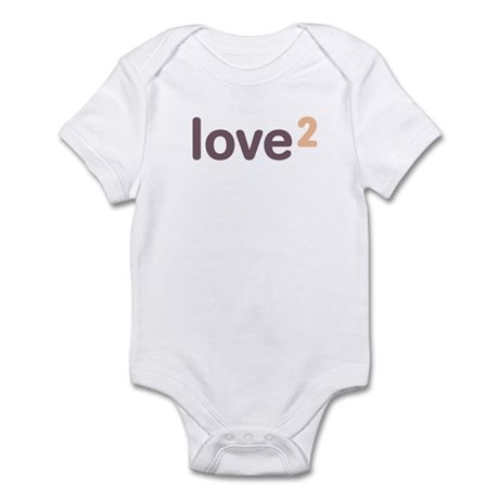 Twins Love Squared Infant Bodysuit