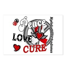 MDS Peace Love Cure 2 Postcards (Package of 8)