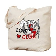 MDS Peace Love Cure 2 Tote Bag