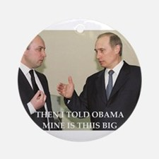 anti obama joke Ornament (Round)