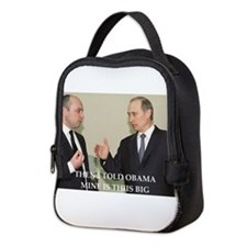 anti obama joke Neoprene Lunch Bag
