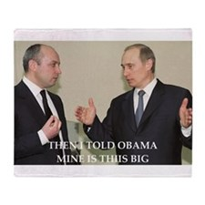 anti obama joke Throw Blanket