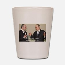 anti obama joke Shot Glass