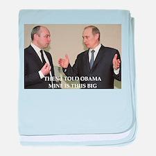 anti obama joke baby blanket