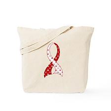 MDS Polka Dot Ribbon Tote Bag