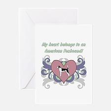 My heart belongs...American Foxhound Greeting Card