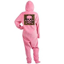 Skull and Crossbones Footed Pajamas