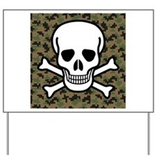 Skull and Crossbones Yard Sign