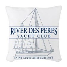 River Des Peres Yacht Club - Woven Throw Pillow