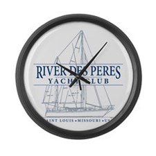 River Des Peres Yacht Club - Large Wall Clock