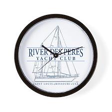 River Des Peres Yacht Club - Wall Clock