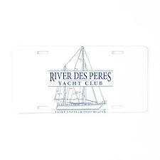 River Des Peres Yacht Club Aluminum License Plate