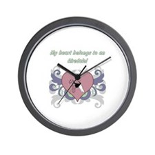 My heart belongs...Airedale Wall Clock