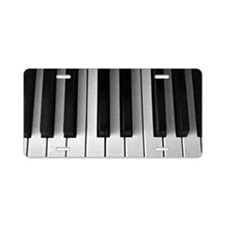 Piano Keys: Aluminum License Plate