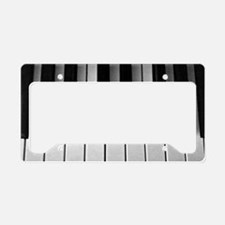 Piano Keys: License Plate Holder