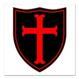 Crusader cross Square Car Magnets