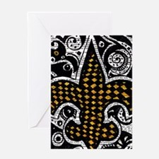 black and gold pillow (2) Greeting Cards