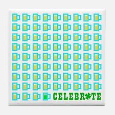 St Patrick's Day Celebration Tile Coaster