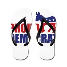Proud Democrat Donkey Logo Flip Flops