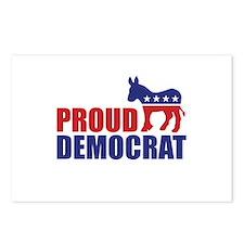 Proud Democrat Donkey Logo Postcards (Package of 8